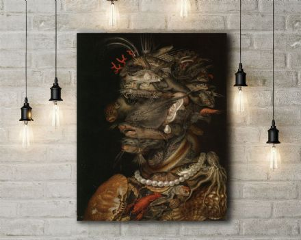 Arcimboldo: The Water. Fine Art Canvas.